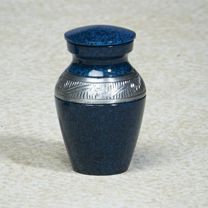 Atlantic Shores Aluminim Mini 5 cu in Cremation Urn Keepsake-Cremation Urns-Infinity Urns-Afterlife Essentials