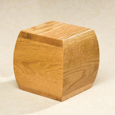 Bainbridge Oak Solid Oak Wood Medium 65 cu in Cremation Urn-Cremation Urns-Infinity Urns-Afterlife Essentials