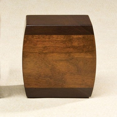 Bainbridge Walnut Solid Walnut Wood Medium 65 cu in Cremation Urn-Cremation Urns-Infinity Urns-Afterlife Essentials