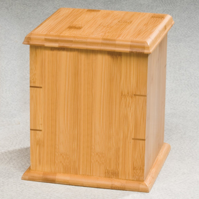 Bamboo Simplicity 195 cu in Cremation Urn-Cremation Urns-Infinity Urns-Afterlife Essentials