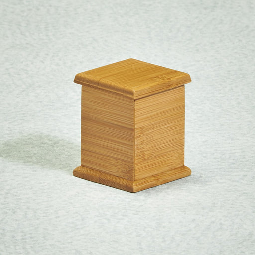 Bamboo Simplicity Mini 3 cu in Cremation Urn Keepsake-Cremation Urns-Infinity Urns-Afterlife Essentials