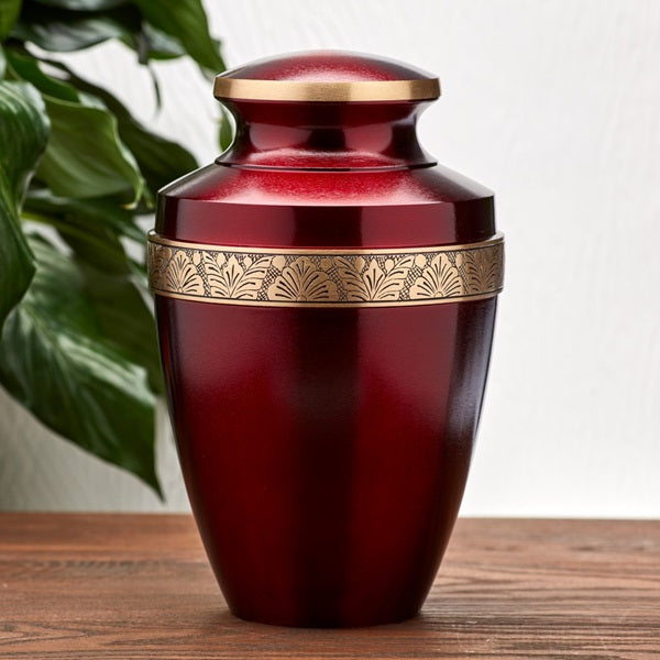 Grecian Crimson Large/Adult Cremation Urn-Cremation Urns-Terrybear-Afterlife Essentials