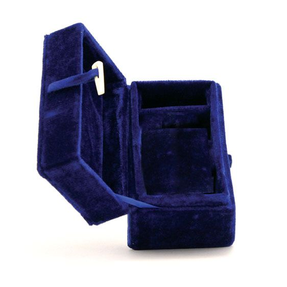 Blue Velvet Keepsake Box Cloisonne-Accessories-Terrybear-Afterlife Essentials
