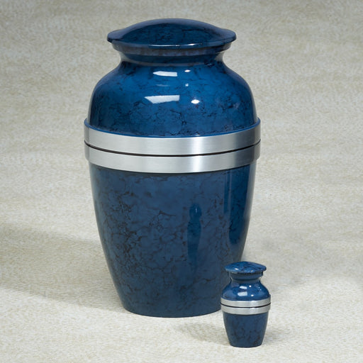 Blue Grecian Aluminim 209 cu in Cremation Urn-Cremation Urns-Infinity Urns-Afterlife Essentials