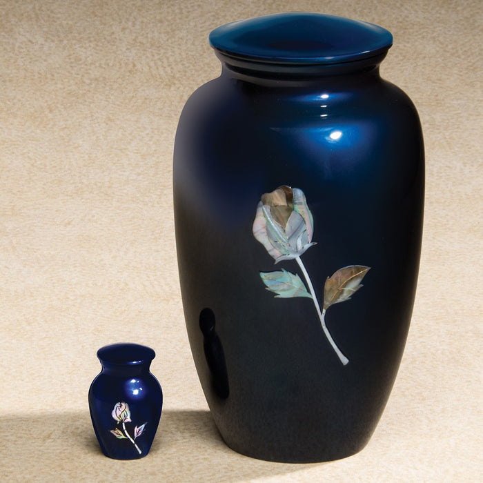 Luminescent Series Blue Rose 200 cu in Cremation Urn-Cremation Urns-Infinity Urns-Afterlife Essentials