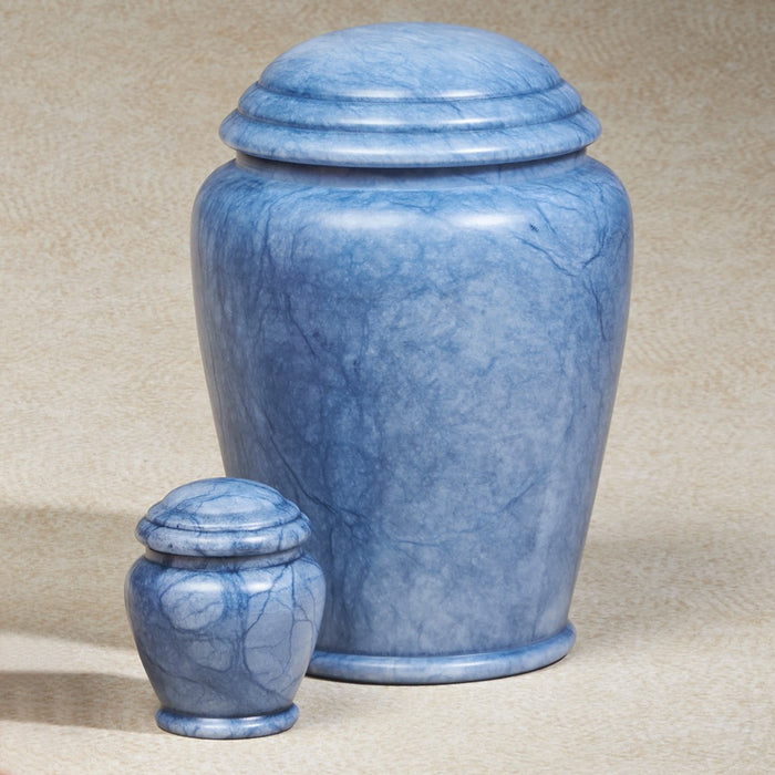 Blue Waters Alabaster Stone 201 cu in Cremation Urn-Cremation Urns-Infinity Urns-Afterlife Essentials