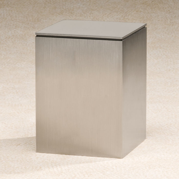Brushed Metallic 204 cu Stainless Steel Cremation Urn