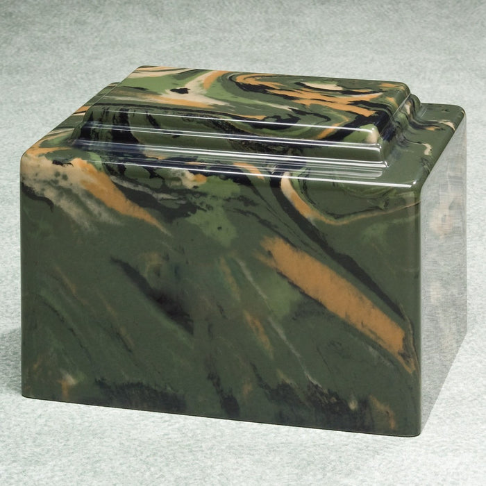 Camouflage Simulated Marble 256 cu in Cremation Urn-Cremation Urns-Infinity Urns-Afterlife Essentials
