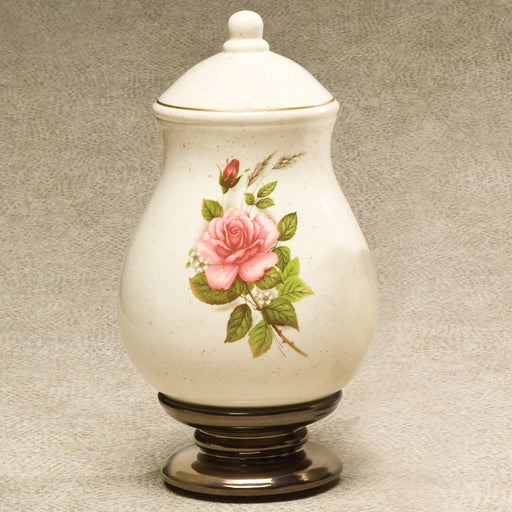 Ceramic Rose Ceramic 220 cu in Cremation Urn-Cremation Urns-Infinity Urns-Afterlife Essentials