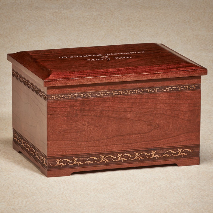 Cherry Memory Box Cherry Wood 200 cu in Cremation Urn-Cremation Urns-Infinity Urns-Afterlife Essentials