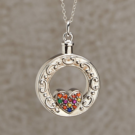 Celebration Of Life Heart Pendant Cremation Jewelry-Jewelry-Infinity Urns-Afterlife Essentials