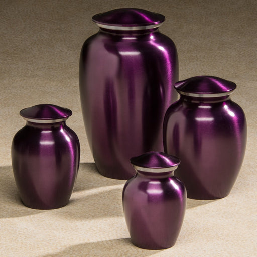 Classic Brass Series Violet 25 cu in Cremation Urn-Cremation Urns-Infinity Urns-Afterlife Essentials