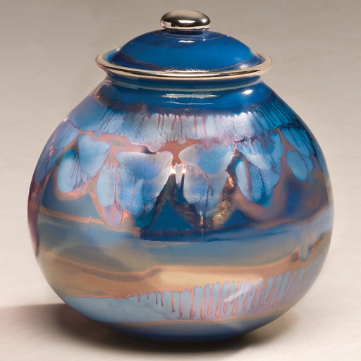 Corona Series Galaxy Blue Ceramic 64 cu in Cremation Urn-Cremation Urns-Infinity Urns-Afterlife Essentials