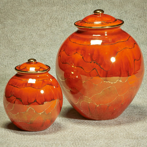 Corona Series Cinnamon Ceramic 64 cu in Cremation Urn-Cremation Urns-Infinity Urns-Afterlife Essentials