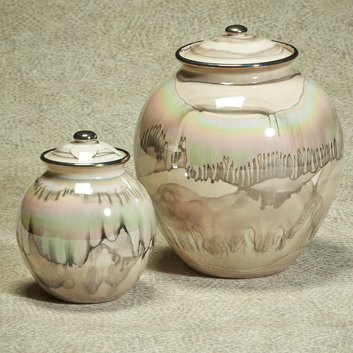 Corona Series Desert Sand Ceramic 200 cu in Cremation Urn-Cremation Urns-Infinity Urns-Afterlife Essentials
