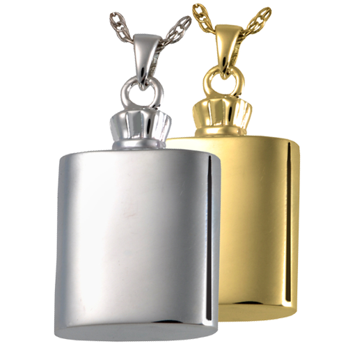 Flask Pendant Cremation Jewelry-Jewelry-New Memorials-Afterlife Essentials