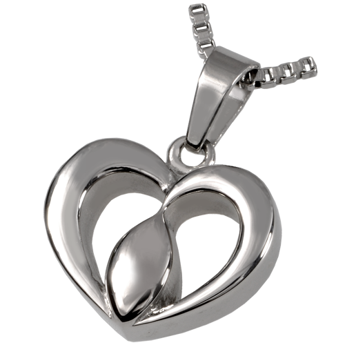 Stainless Steel Center Of The Heart Pendant Cremation Jewelry-Jewelry-New Memorials-Afterlife Essentials