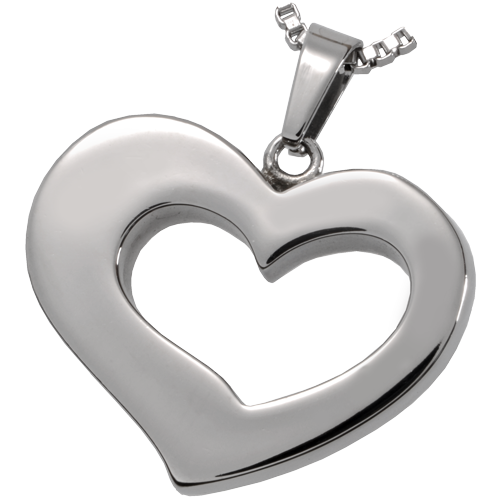 Stainless Steel Affectionate Heart Pendant Cremation Jewelry-Jewelry-New Memorials-Afterlife Essentials