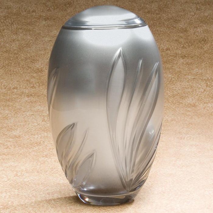 Hand-Blown Glass Crystal Bloom 190 cu in Cremation Urn-Cremation Urns-Infinity Urns-Afterlife Essentials