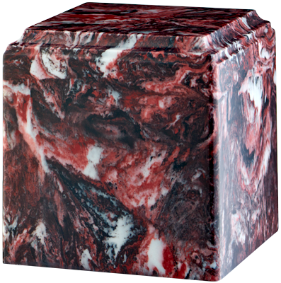 Cube Cultured Marble Adult 280 cu in Cremation Urn-Cremation Urns-Bogati-Fire Rock-Afterlife Essentials