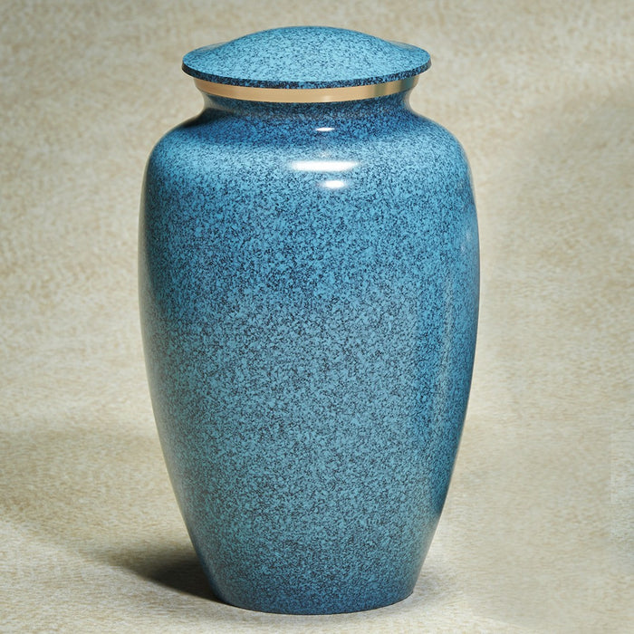 Earthtones Blue Granite Brass Adult 195 cu in Cremation Urn-Cremation Urns-Infinity Urns-Afterlife Essentials