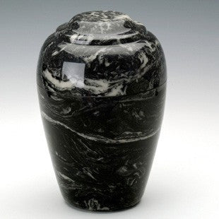 Eldridge Ebony Simulated Marble 210 cu in Cremation Urn-Cremation Urns-Infinity Urns-Afterlife Essentials