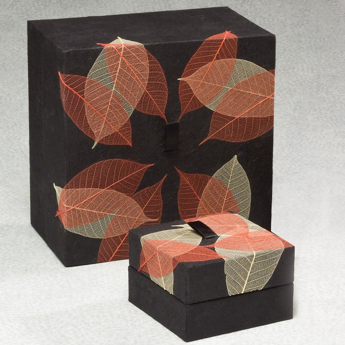 Autumn Leaves Biodegradable Small 36 cu in Cremation Urn-Cremation Urns-Infinity Urns-Afterlife Essentials