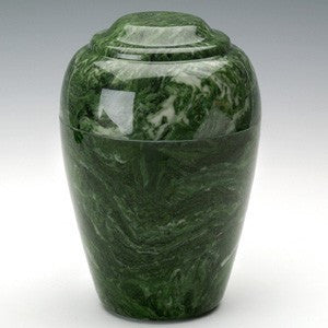 Eldridge Evergreen Simulated Marble Small 36 cu in Cremation Urn-Cremation Urns-Infinity Urns-Afterlife Essentials