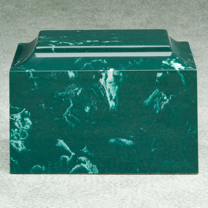 Majesty Evergreen Simulated Marble Adult 210 cu in Cremation Urn-Cremation Urns-Infinity Urns-Afterlife Essentials