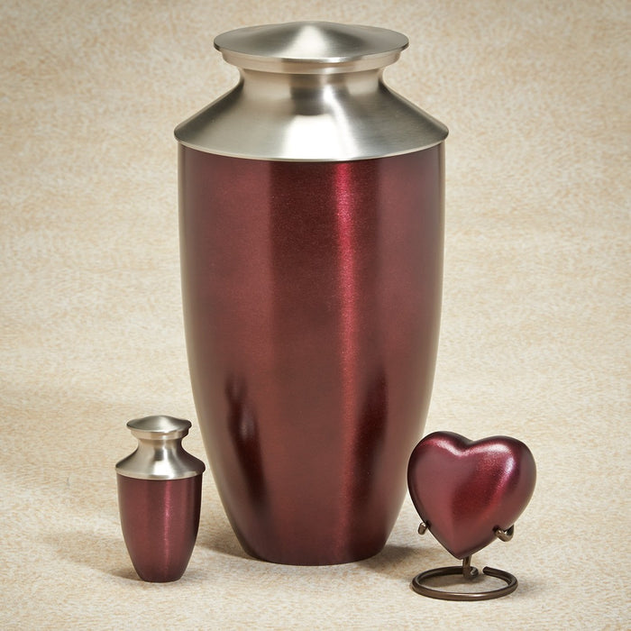 Fall Meadows Series Berry Wine Brass 200 cu in Cremation Urn-Cremation Urns-Infinity Urns-Afterlife Essentials