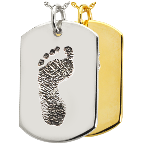 Dog Tag Footprint Cremation Jewelry-Jewelry-New Memorials-Afterlife Essentials