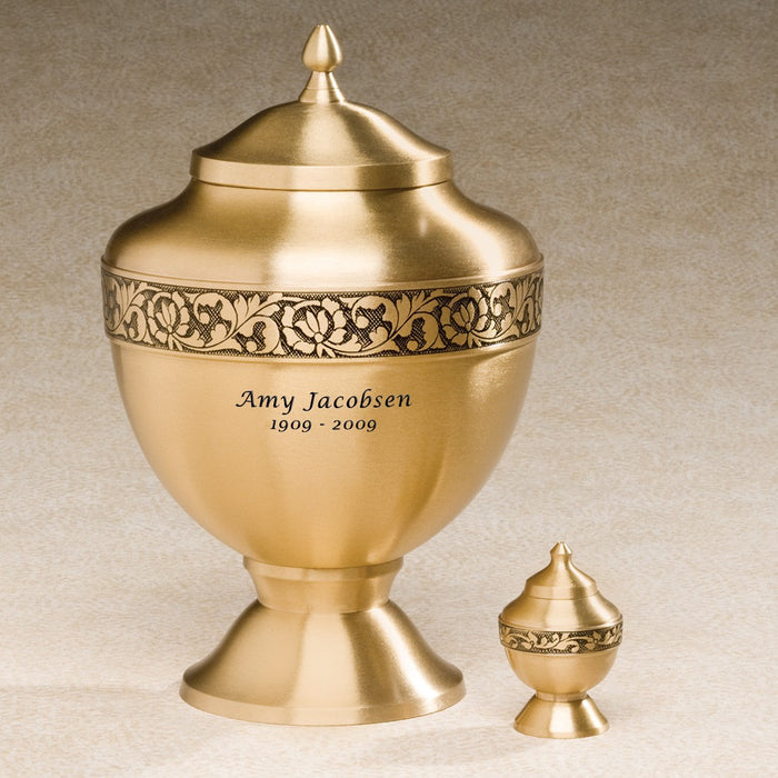 Golden Chalice Brass 210 cu in Cremation Urn-Cremation Urns-Infinity Urns-Afterlife Essentials