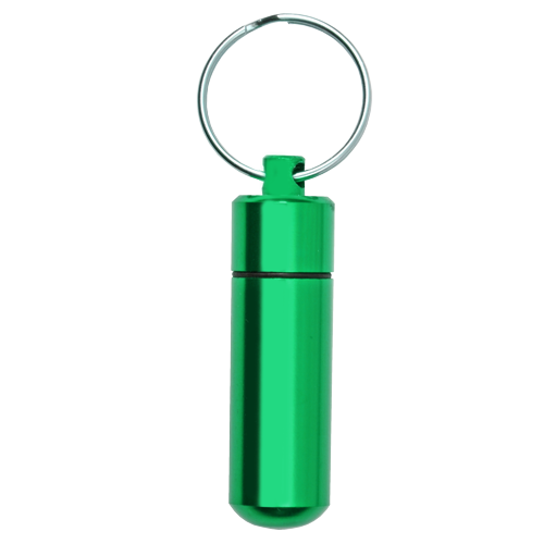 Aluminum Urn Keepsake Green Pet Cremation Keychain-Jewelry-New Memorials-Afterlife Essentials