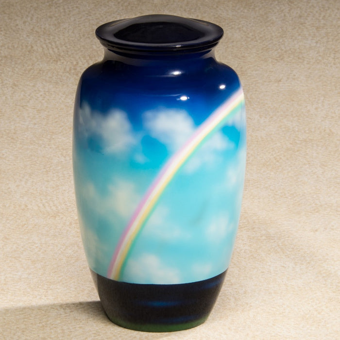 Rainbow Hand-Painted Scenes Adult 200 cu in Cremation Urn-Cremation Urns-Infinity Urns-Afterlife Essentials