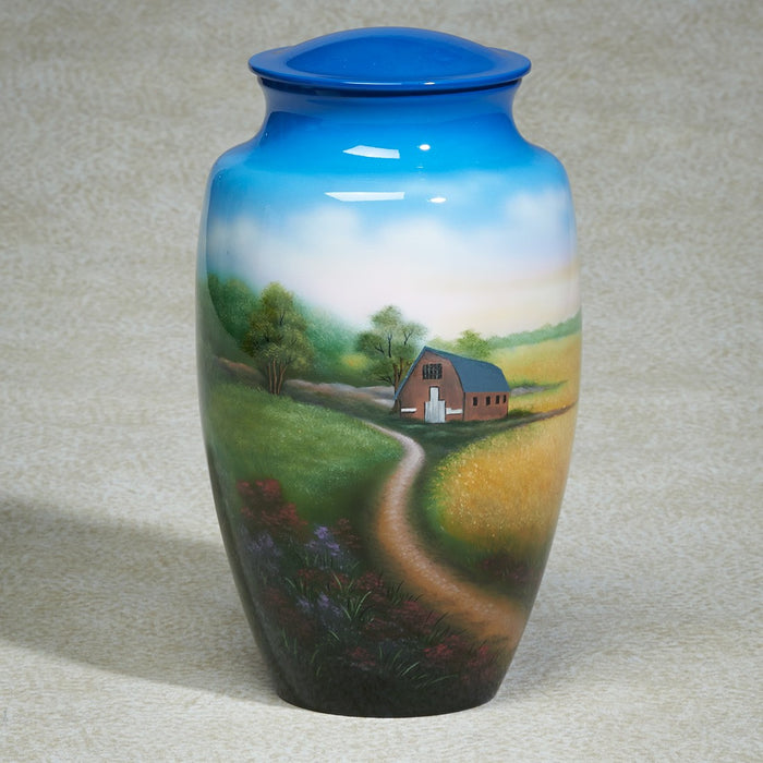 Favorite Places On The Farm Aluminum 200 cu in Cremation Urn-Cremation Urns-Infinity Urns-Afterlife Essentials