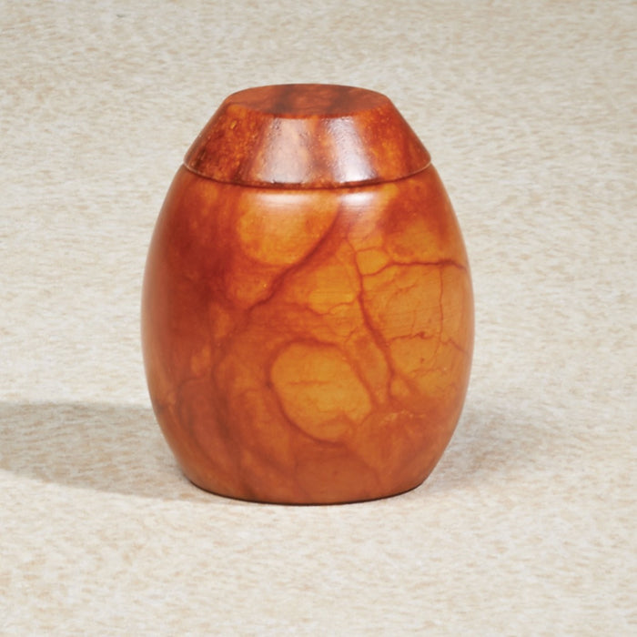 Harvest Moon Alabaster Stone Mini 6 cu in Cremation Urn Keepsake-Cremation Urns-Infinity Urns-Afterlife Essentials