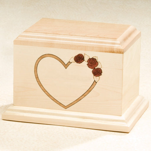 At Home In Our Hearts Series Solid Maple Wood 200 cu in Cremation Urn-Cremation Urns-Infinity Urns-Afterlife Essentials