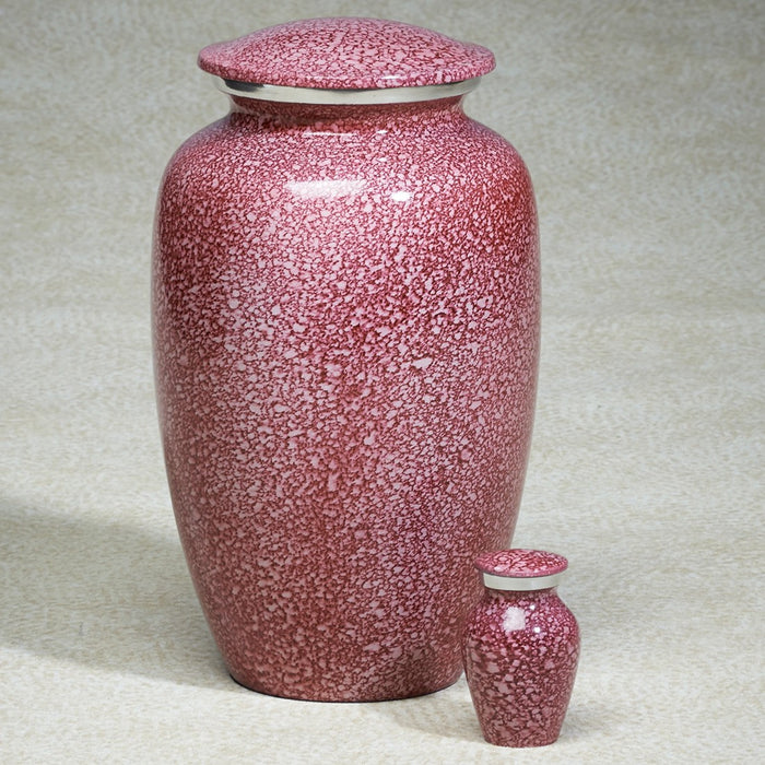 Imperial Pink Aluminum 202 cu in Cremation Urn-Cremation Urns-Infinity Urns-Afterlife Essentials