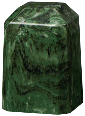 Cultured Marble Keepsake Square – Green Ascota-Cremation Urns-Bogati-Afterlife Essentials