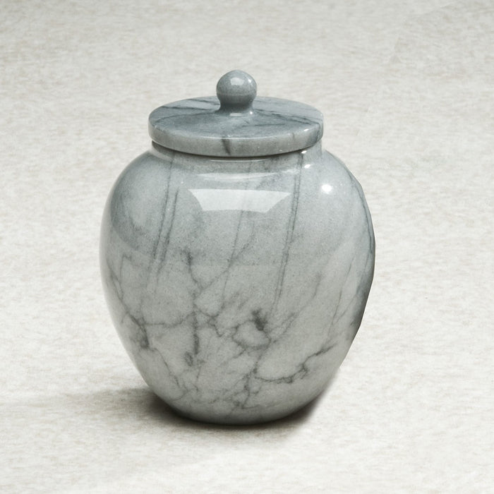 Legacy Grey Marble Mini 6 cu in Cremation Urn Keepsake-Cremation Urns-Infinity Urns-Afterlife Essentials