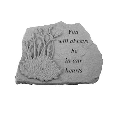 You will always…w/lavendar Memorial Gift-Memorial Stone-Kay Berry-Afterlife Essentials
