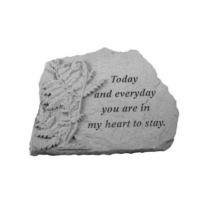Today and everyday… w/fern Memorial Gift-Memorial Stone-Kay Berry-Afterlife Essentials