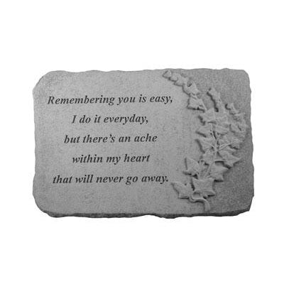 Remembering you is… w/ivy Memorial Gift-Memorial Stone-Kay Berry-Afterlife Essentials