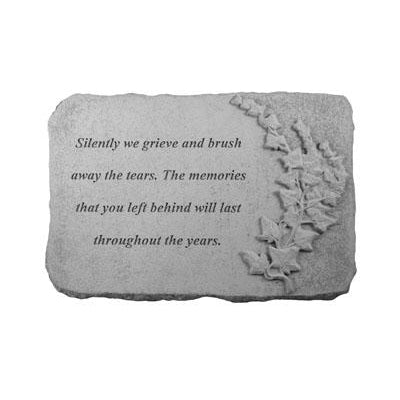 Silently we grieve… w/ivy Memorial Gift-Memorial Stone-Kay Berry-Afterlife Essentials