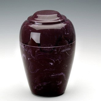 Eldridge Merlot Simulated Marble Small 36 cu in Cremation Urn-Cremation Urns-Infinity Urns-Afterlife Essentials