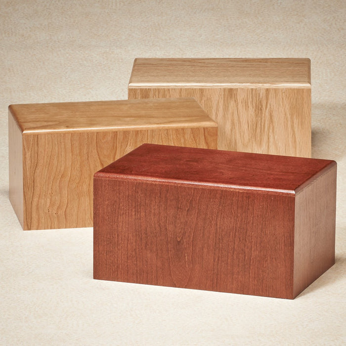 Minnehaha Natural Cherry Wood Adult 200 cu in Cremation Urn-Cremation Urns-Infinity Urns-Afterlife Essentials