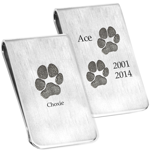 Pet Paw Print Money Clip Cremation Jewelry-Jewelry-New Memorials-Afterlife Essentials