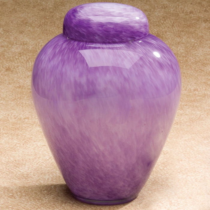 Hand-Blown Glass Moonlit Purple 220 cu in Cremation Urn-Cremation Urns-Infinity Urns-Afterlife Essentials