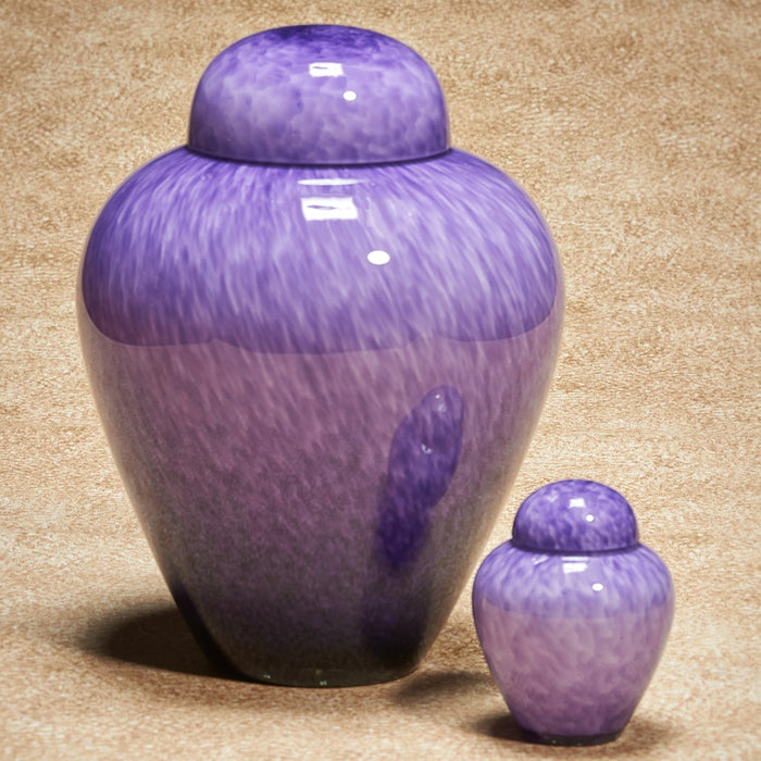 Hand-Blown Glass Moonlit Purple 305 cu in Cremation Urn-Cremation Urns-Infinity Urns-Afterlife Essentials