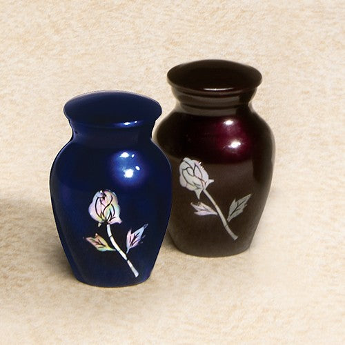 Luminescent Series Red Rose 2.8 cu in Cremation Urn-Cremation Urns-Infinity Urns-Afterlife Essentials